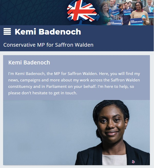 Kemi Badenoch Website